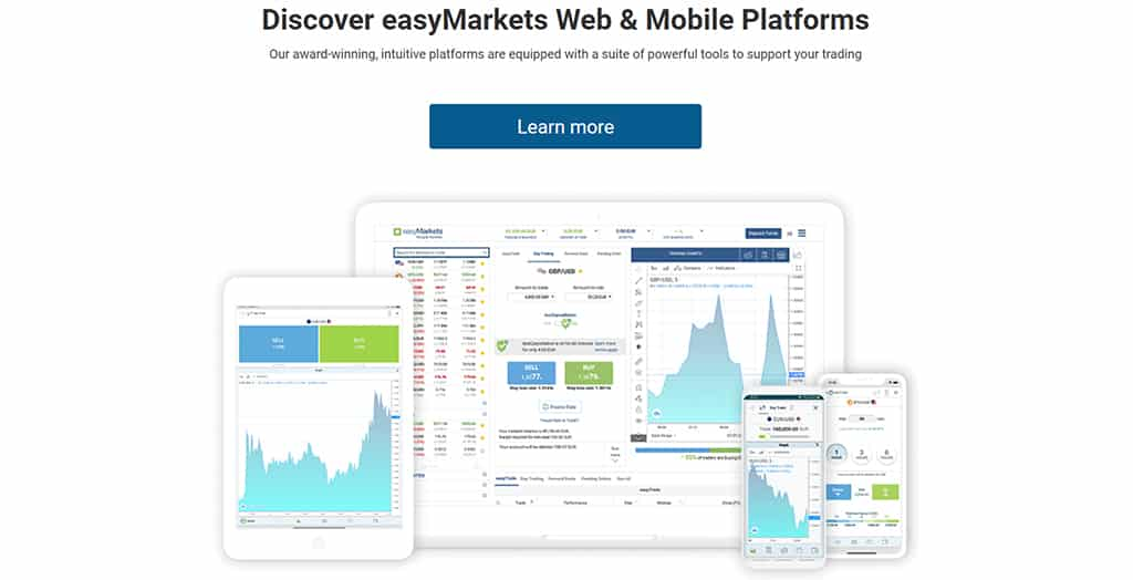 easyMarkets home page featured image
