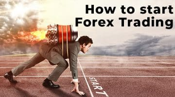 How to start Forex Trading man standing at starting line