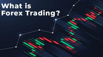 What is Forex trading with green and red candlesticks on chart