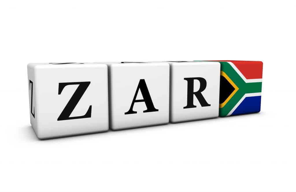 forex trading in south africa, South Africa rand currency exchange market and financial concept with zar code sign and the South African flag on cubes 3D illustration on white background.