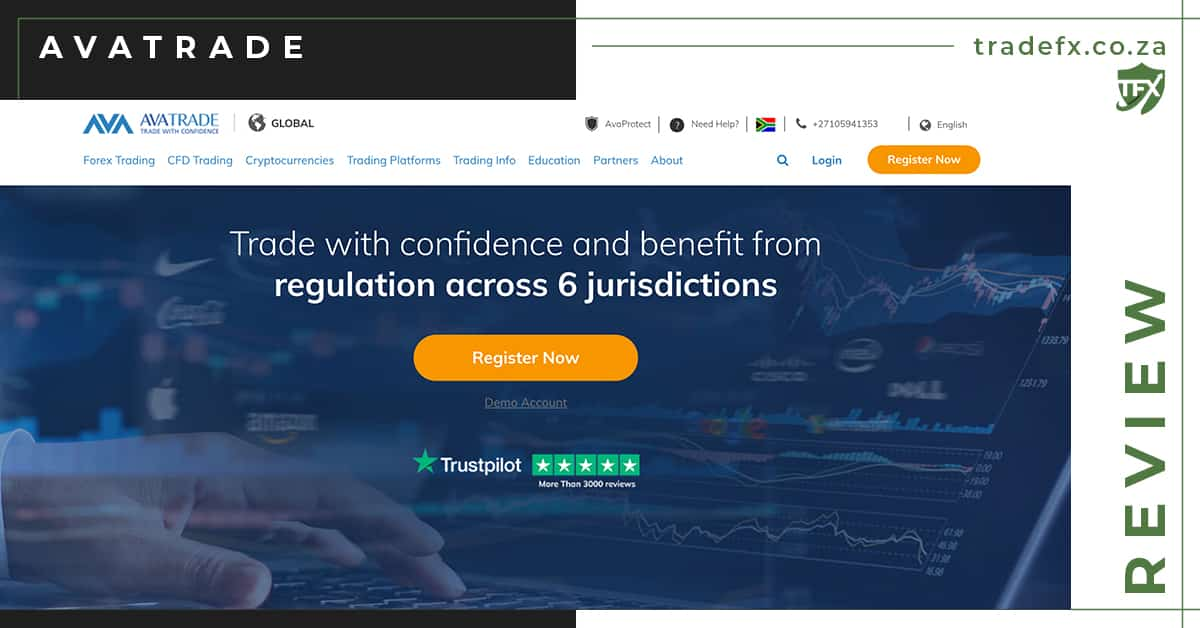 Avatrade Review by TradeFX Homepage Screenshot