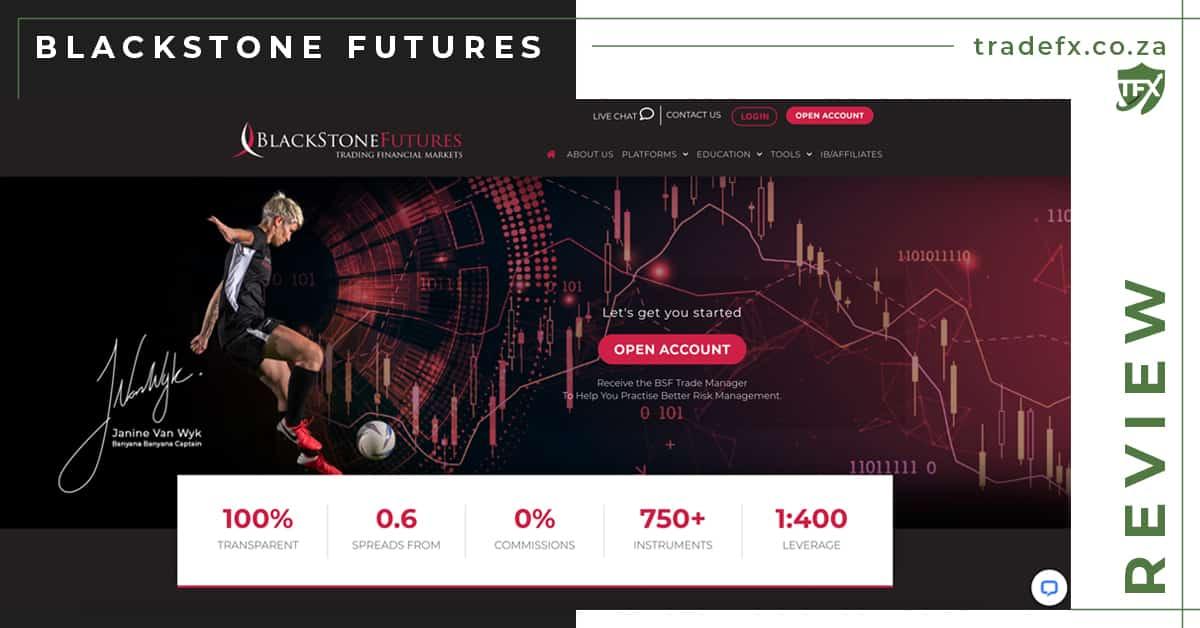 Blackstone Futures Review by TradeFX Homepage Screenshot