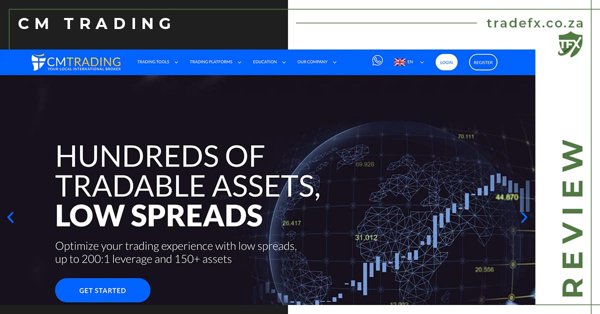 CM Trading Review by TradeFX Homepage Screenshot