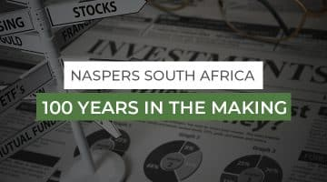 naspers south africa, board showing investment opportunities, stocks