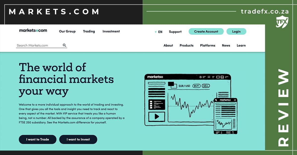 Markets.com Review by TradeFX Homepage Screenshot