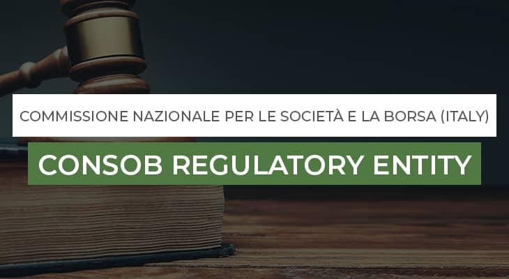 CONSOB Regulatory Entity Italy