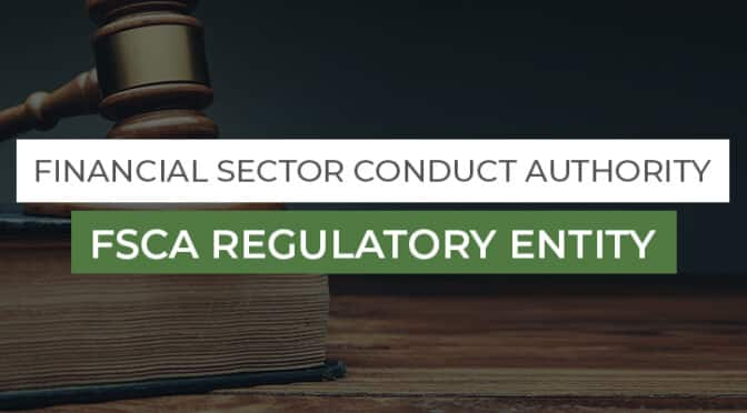 FSCA Regulatory Entity