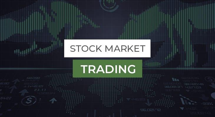 green bull and bear stock market trading education