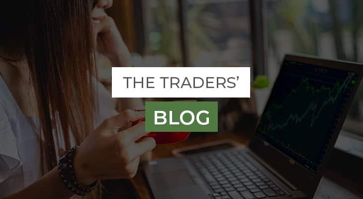 happy lady enjoying forex traders' blog