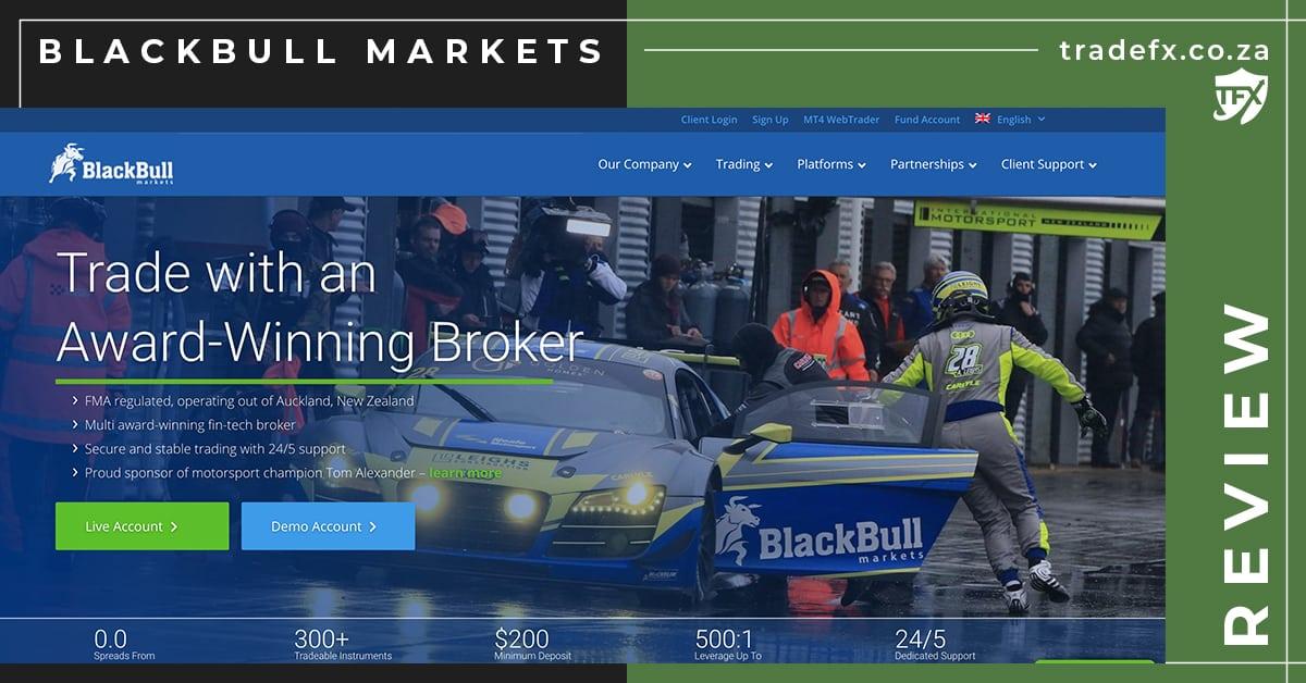 BlackBull Markets Review by TradeFX Homepage Screenshot